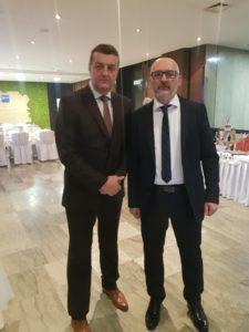 Potpredsjednik opstine Mervan Avdovic i predsjednik Zavicajnog udruzenja PV i prijatelja PV u Sa Alen Sulejmanovic
