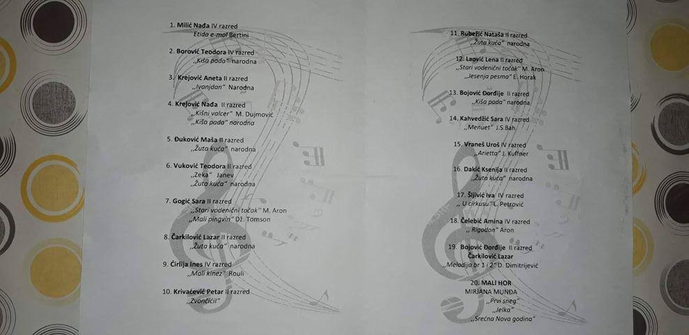 Program muzičke 2