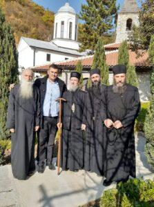 Vladika Atanasije u posjeti Manastiru sv. Trojice i ocu Vladislavu