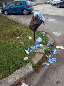 Maske otpad u krugu zdravstvenih ustanova
