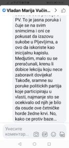 Fejsbuk komentar Adnana Muhovića
